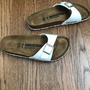 Birkenstock Madrid white patent sandal - size 37